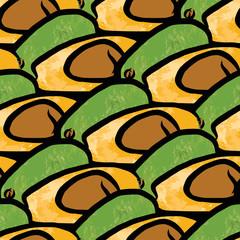 seamless pattern of avocados