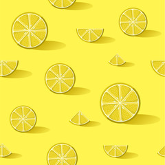 Lemon fruit background pattern art