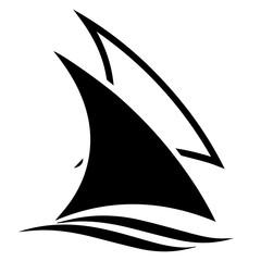 Sail Boats Vector Icon Logo