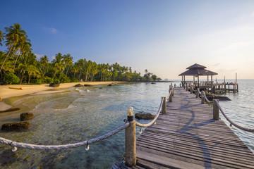 Tropical beach on Island near Ko Chang, Thailand