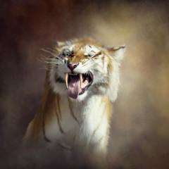 sabertooth tiger portrait
