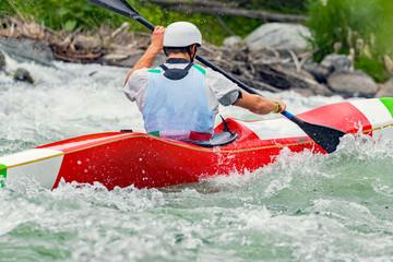 Fototapete - discesa in canoa
