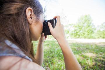 Female Amateur Photographer Outdoor