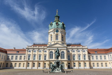 Facade of Schloss Charlottenburg palace in Berlin, Germany - Europe