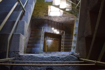 Treppen des Lydiaturms am Laacher See