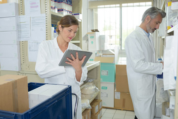 arrival of fresh medicines in the pharmacy