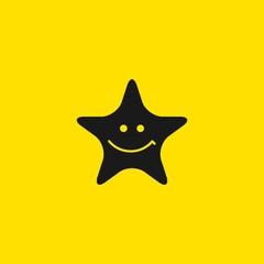 Star Smile Vector Template Design Illustration