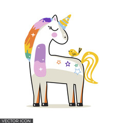 Cute Colorful Unicorn Drawing