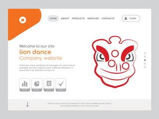 lion dance Landing page website template design