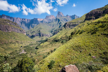Northern Drakensberg Mountains in the Royal Natal National Park known as the Amphitheater.