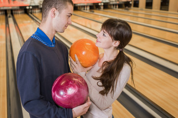 falling in love in the bowling center