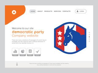 democratic party Landing page website template design