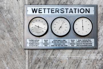 Wetterstation analoge Anzeige Wetter