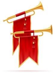 king royal golden horn vector illustration