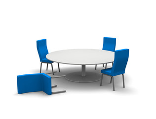 倒れる椅子