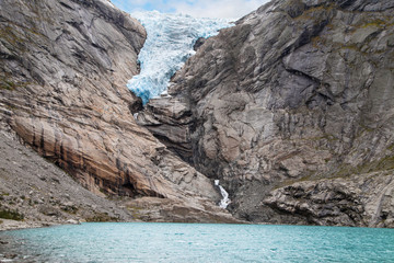 Briksdalsbreen Glacier and its Lagoon