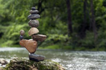 Estores personalizados com paisagens com sua foto Stacking balance