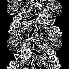 bouquet of flowers monochrome