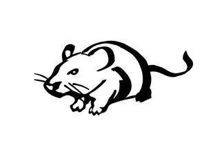 Mouse. Stylized line drawing