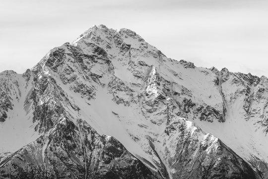 Closeup of Pioneer Peak south of Palmer