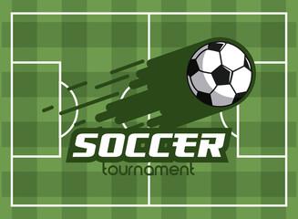 Soccer tournament cartoons concept vector illustration graphic design