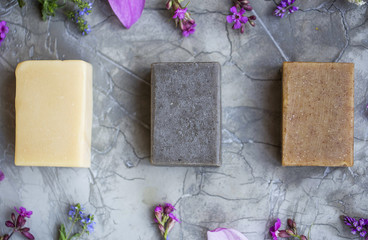 Plant-based natural soap bars