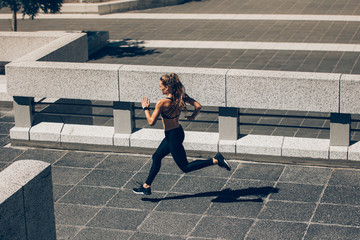 Woman jogging early in the morning