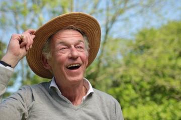 Beautiful old happy man