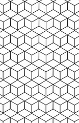Pattern with geometric cube pattern.