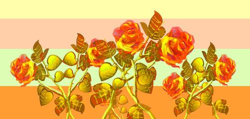 Bande colorate con tema floreale.