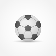 Football isolated on white background. Soccer ball vector illustration.