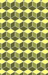 Pattern with geometric cube pattern.