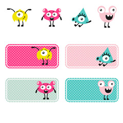 Cute monsters vector creations.