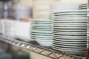 dish for table appointment in the tableware store
