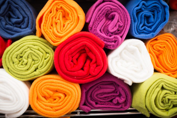 image of different cotton colour towel