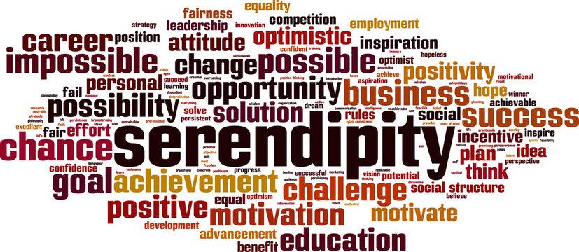 Serendipity word cloud