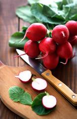 Organic fresh  radishes