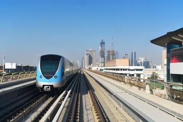Dubai's light rail station