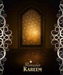 Ramadan Background mosque window