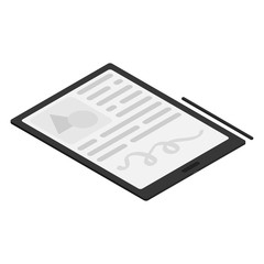 Isometric tablet with electronic ink display