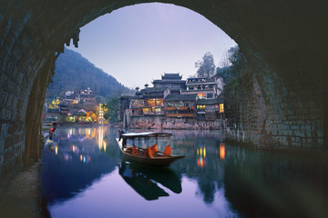 The ancient city of phoenix in hunan province,China