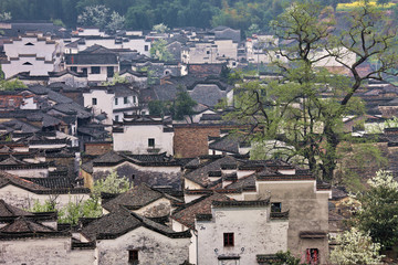 Autumn scenery of Shicheng in Wuyuan County,Jiangxi Province,China