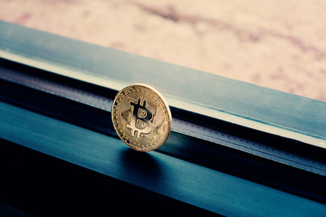 Gold cryptocurrency bitcoin for business technology transaction