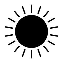 Sun Icon. Vector Simple Minimal 96x96 Pictogram