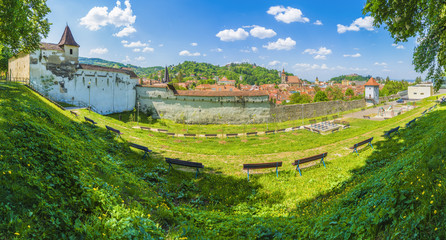 Wall Mural - Cityscape Brasov, the most beautiful and medieval place of Transylvania, Romania. .