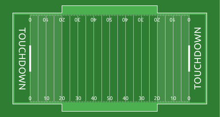 Rugby field vector flat illustration