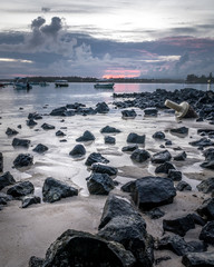 Sunset on Mauritius island
