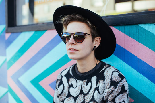 Androgynous Hipster girl