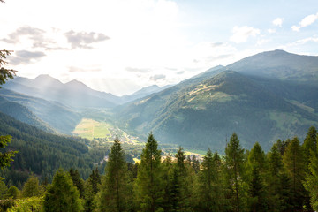 View from the mountain to the landscape