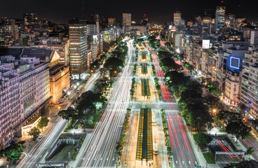 City of Buenos Aires at night